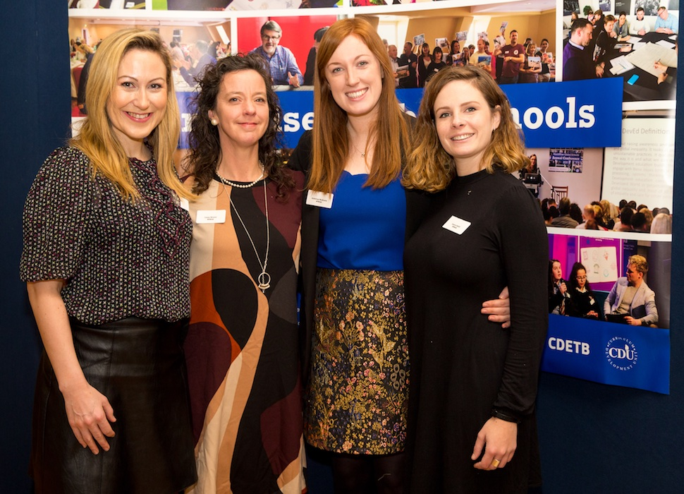 WWGS Education Officers: Aoife Rankin (Connaught and Ulster), Lizzy Noone (Leinster), Aishling McGrath (WWGS Director), Laura Cahill (Munster) (Credit: Conor Healy PICTUREiT)
