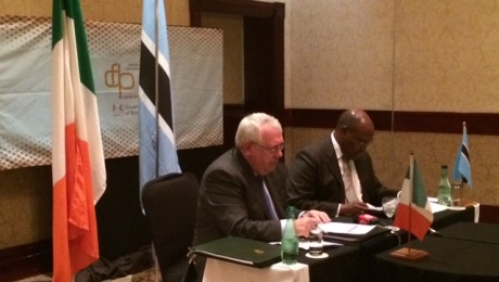Minister Costello signs Double Taxation Agreement with Botswana Minister of Finance and Development Planning.