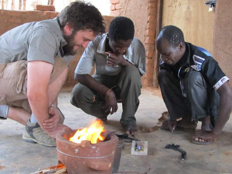 Irish Aid has funded the development by Trinity College Dublin of a thermoelectric generator attached to a clay cookstove that uses heat to provide electricity for charging mobile phones and powering lights or radios.