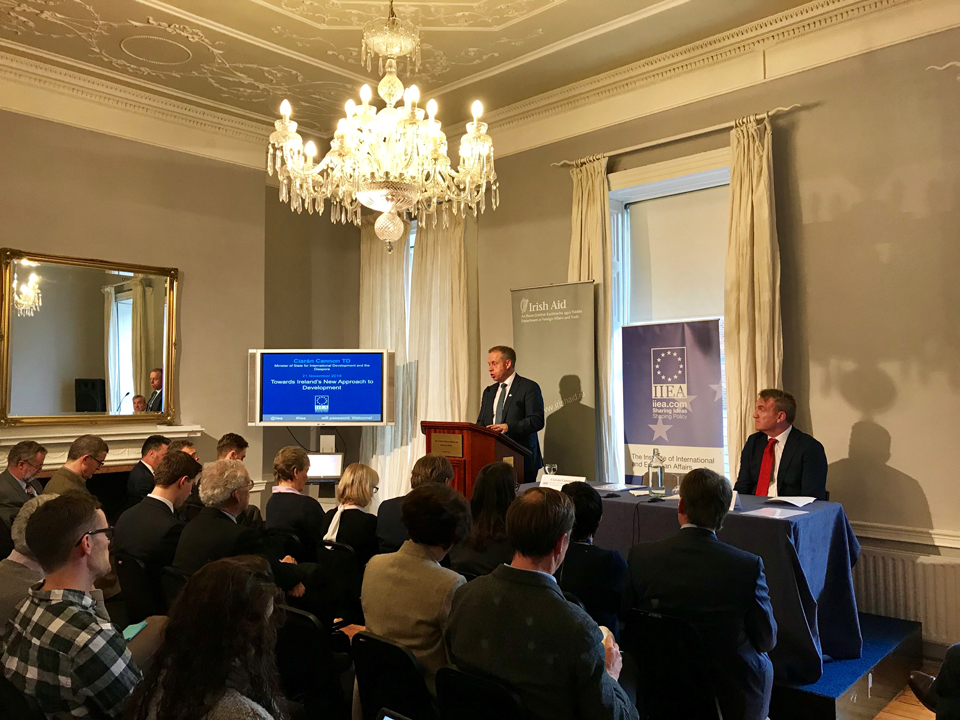Towards Ireland's new approach to development - address by Minister to Cannon to IIEA