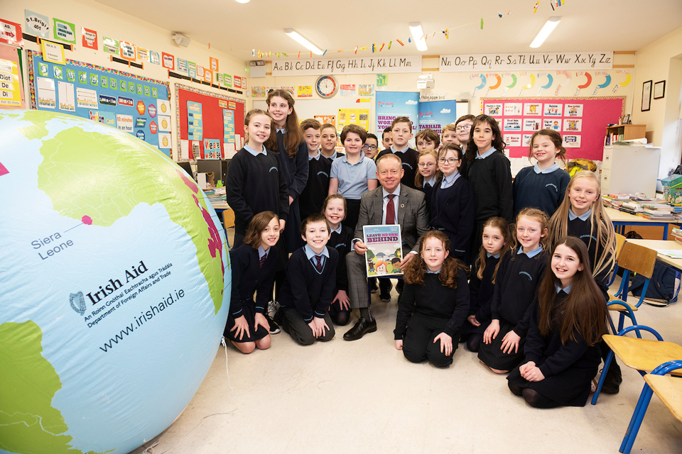 Minister Ciarán Cannon launches 2019 Our World Irish Aid Awards  for primary schools