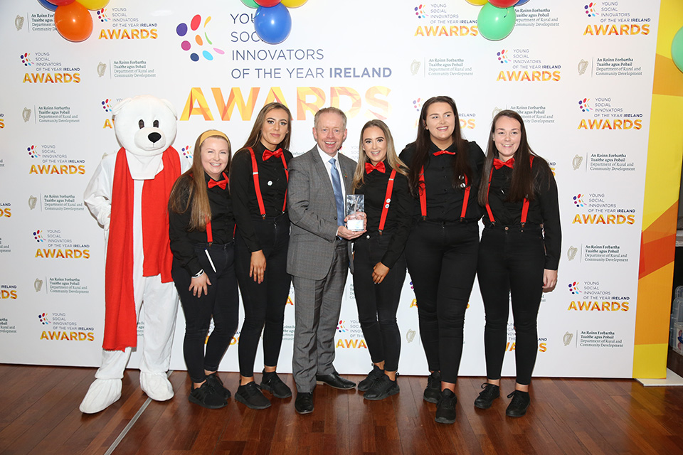 Castleisland Community college students with Minister for Development Ciarán Cannon TD (Credit: Debbie Hickey)