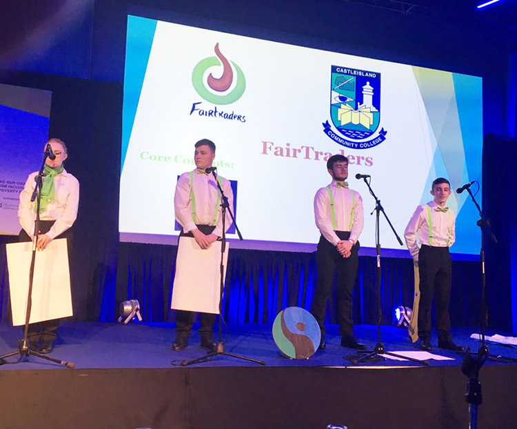 Castleisland Community College, winners of the 'Make Our World More Fair and Just' category.